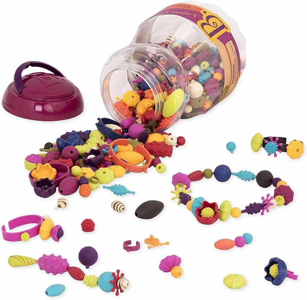 B. Toys BX2148Z Arty Snap 500 szt.  koraliki typu pop  zestawy do produkcji biżuterii, Multi, zestaw