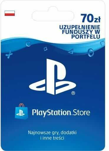 Sony PlayStation Network 70 zł [kod aktywacyjny] Dostęp po opłaceniu zakupu