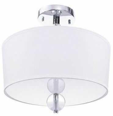 Plafon Tineo 40 BL051 Berella Light chromowa oprawa z białym abażurem