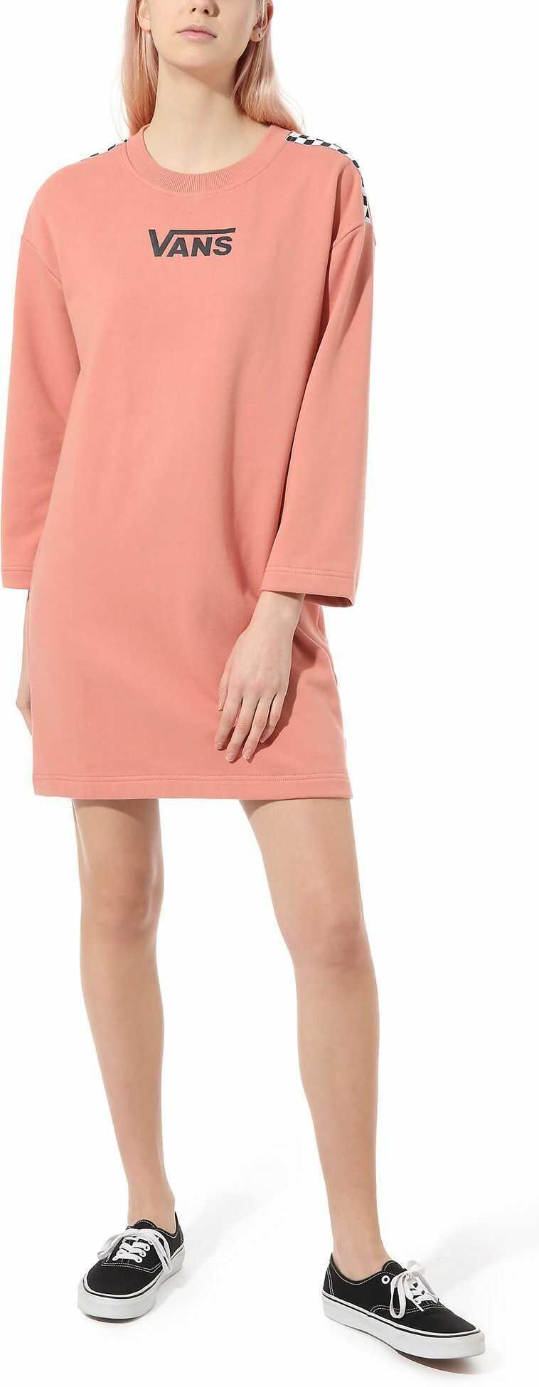 sukienka damska VANS CHROMO II DRESS Rose Dawn