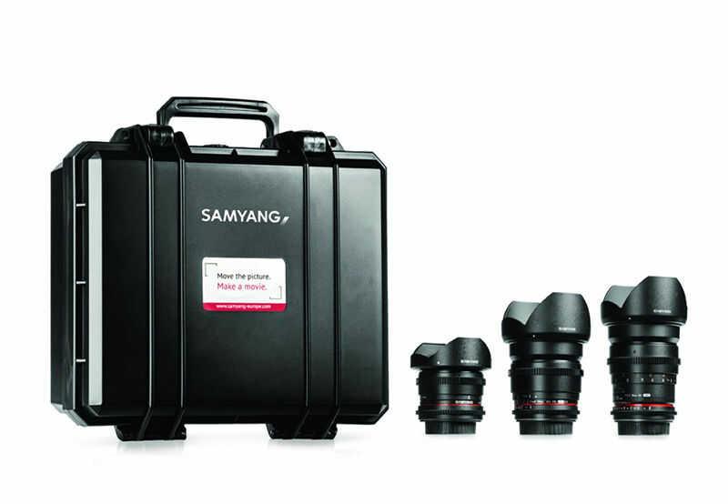 Samyang VDSLR Cinema 3 Zestaw (8mm, 16mm, 35mm) do Nikon