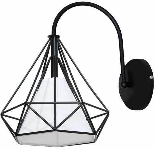 Milagro TRIANGOLO ML4383 kinkiet lampa ścienna metalowa abażur PVC 1xE27 32cm