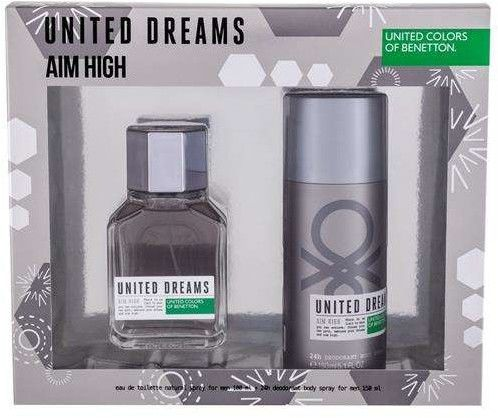 Benetton United Dreams Aim High Woda toaletowa 100 ml + Dezodorant 150 ml