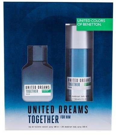 Benetton United Dreams Together Woda toaletowa 100 ml + Dezodorant 150 ml