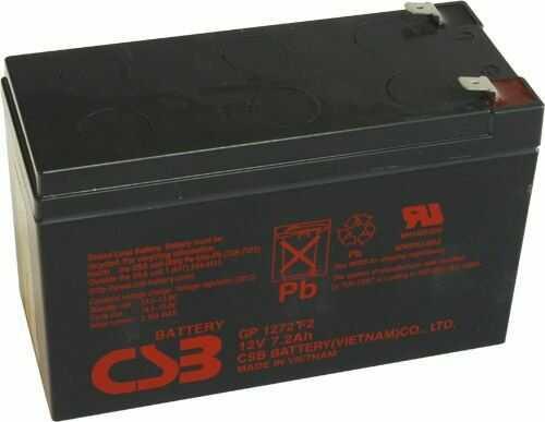 Akumulator żelowy 12V 7,2Ah CSB GP1272 F2