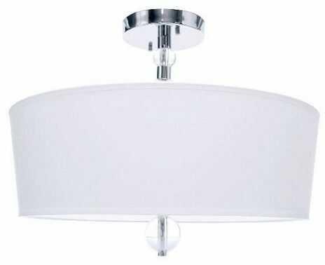 Plafon Tineo 50 BL0404 Berella Light chromowa oprawa sufitowa z białym abażurem