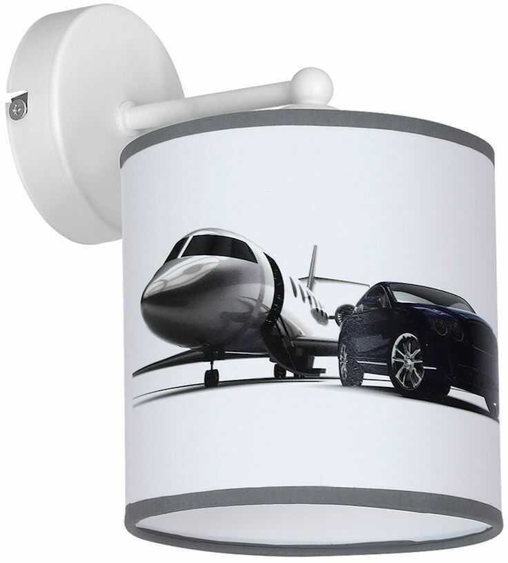 Milagro JET MLP4325 kinkiet lampa ścienna dziecięcy klosz auto samolot 1xE27 23cm
