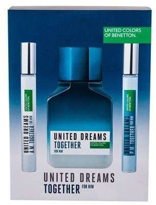 Benetton United Dreams Together Woda toaletowa 100 ml + Edt United Dreams Together A.M. 10 ml + Edt United Dreams Together P.M. 10 ml