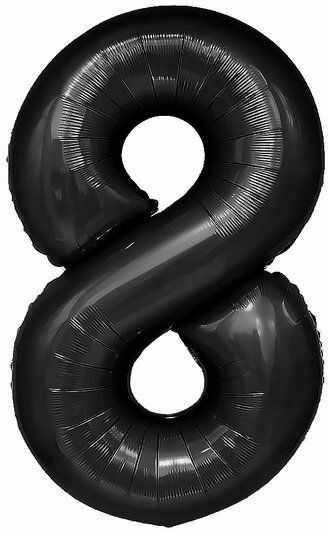 Balon foliowy 8 czarny 100cm 1szt 450088