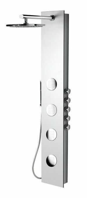 5SIDE Panel prysznicowy z baterią 155x25,5 cm, biały 80217