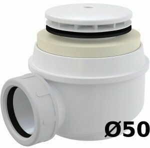 Syfon do brodzika kryty biały A47B 60