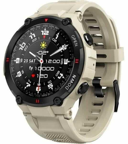 GARETT Smartwatch Garett Sport Tactic beżowy
