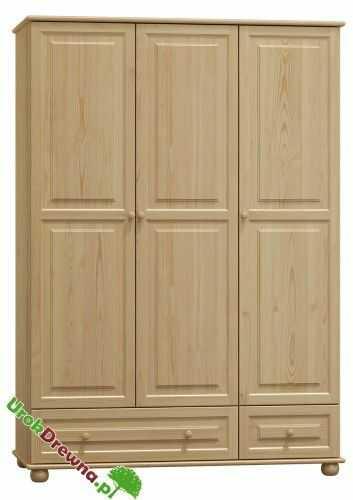 Szafa sosnowa 3 drzwiowa z szufladą 120 (nr kat. 62)