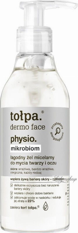 Tołpa - Dermo Face Physio - Łagodny żel micelarny do mycia twarzy i oczy - 195 ml