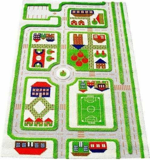Dywan miasto zabaw 3d 100 x 150 cm zielony