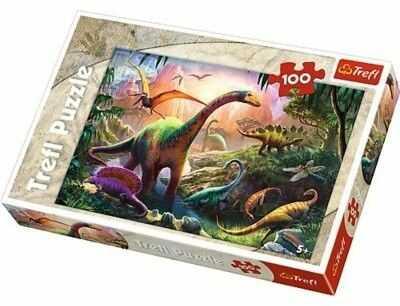 Puzzle TREFL 100 - Świat dinozaurów, Dinosaurs'' land