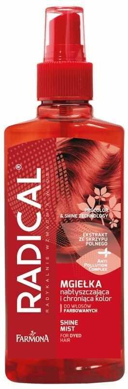 RADICAL Nabłyszczająca mgiełka ochraniająca kolor do włosów farbowanych i z pasemkami 200 ml