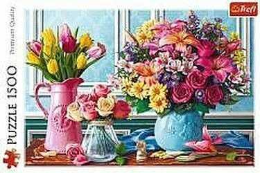 Puzzle TREFL 1500 - Kwiaty w wazonach, Flowers in vases