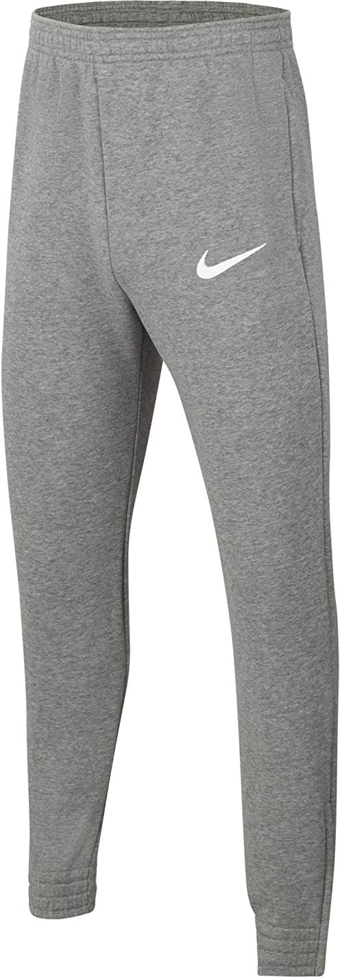 Nike Spodnie dresowe dla chłopców Park 20 Wrzosowy węgiel, biały/biały S