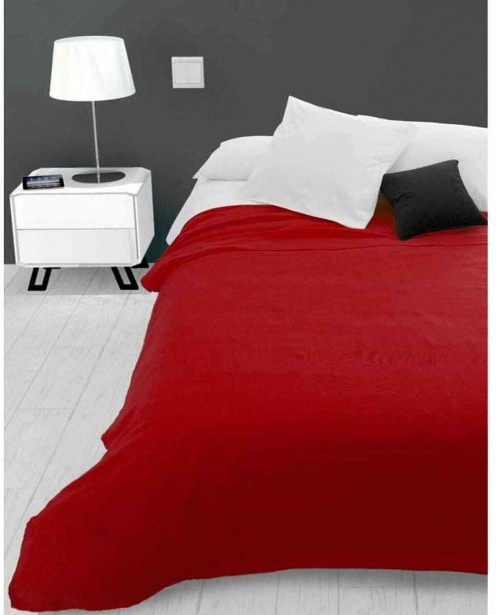 Soleil d''Ocre Adele, narzuta na sofę, policotton, czerwony, 180 x 220 cm