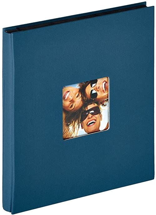 Walther design EA-110-L zabawny album do wkładania, na 400 zdjęć w formacie 10 x 15 cm, niebieski