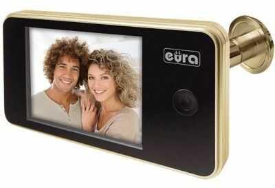Wizjer Eura-Tech.eu Wideo-wizjer EURA VDP-01C1 Eris Złoty
