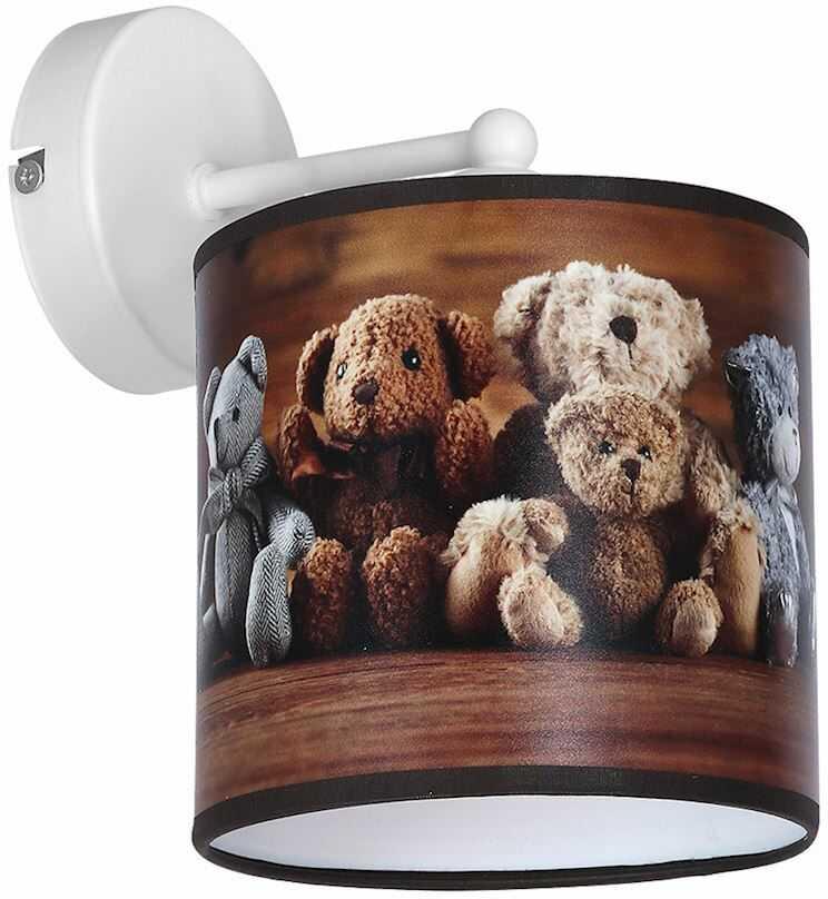 Milagro TEDDY BEAR MLP4320 kinkiet lampa ścienna dziecięcy klosz wielokolorowy miś 1xE27 23cm
