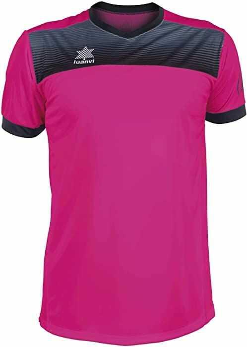 Luanvi Bolton męska koszulka tenisowa z krótkimi rękawami. różowy Rosa 3XS