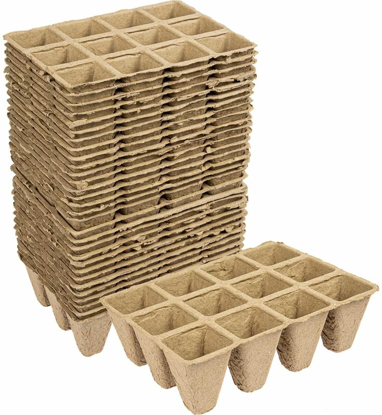 Doniczki papierowe 4x4x4,5 cm, 30 szt.