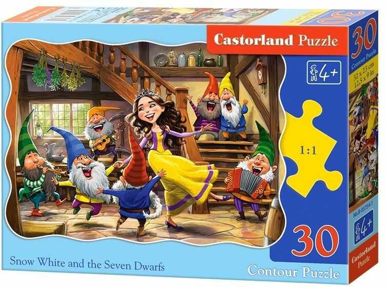Puzzle Castor 30 - Królewna Śnieżka i krasnoludki