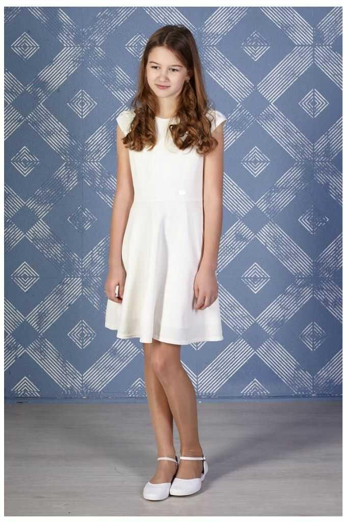 Kremowa sukienka dla dziewczynki 140-158 Mona