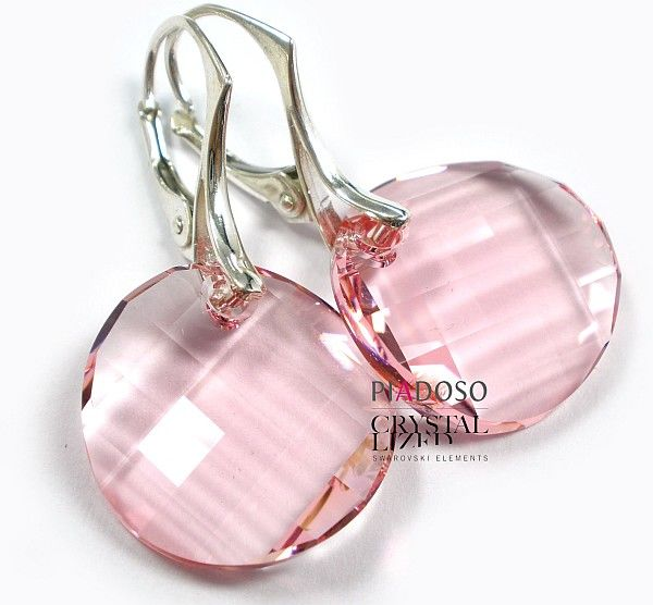 Kryształy piękne kolczyki SREBRO CERTYFIKAT 18LR