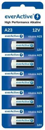 5 x baterie alkaliczne everActive A23 12V