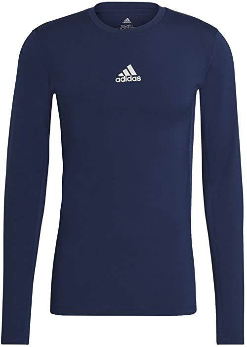 adidas Koszulka męska Techfit Compression Long Sleeve Tee niebieski Team Navy Blue L Tall