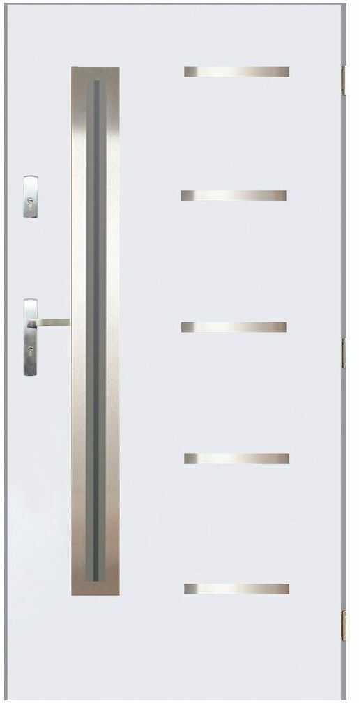 Drzwi wejściowe NIKE Białe 90 Prawe PANTOR