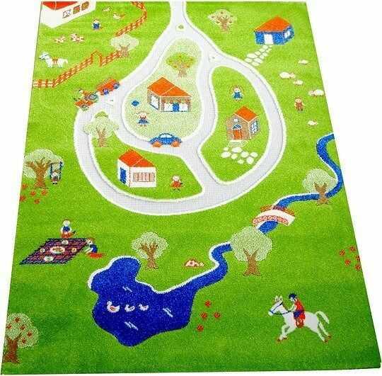 Dywan wioska 3d 100 x 150 cm zielony
