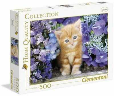 Puzzle Clementoni 500 - HQ - Rudy kotek, Ginger cat