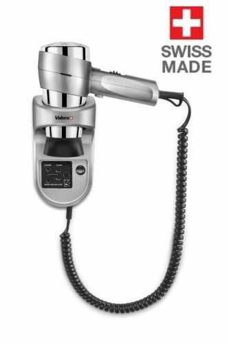 Hotelowa suszarka do włosów VALERA 1600 W srebrna z gniazdem 110-120 V i 220-240 V