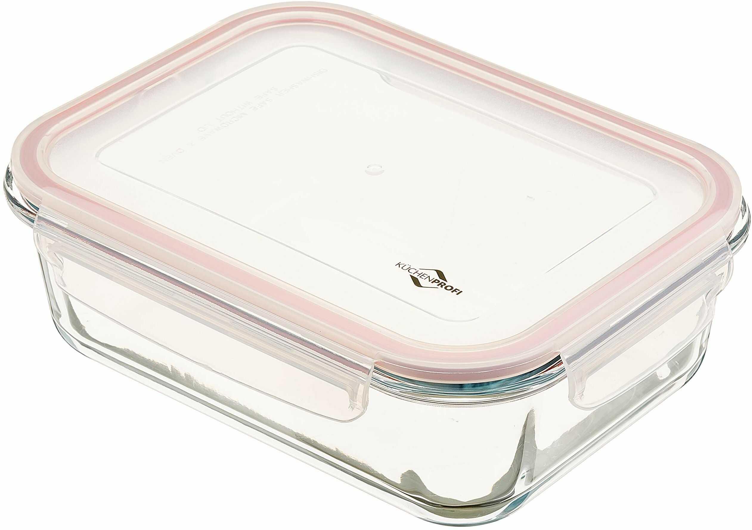 Küchenprofi Lunchbox-1001753520 pojemnik na lunch, szklany, przezroczysty, jeden rozmiar