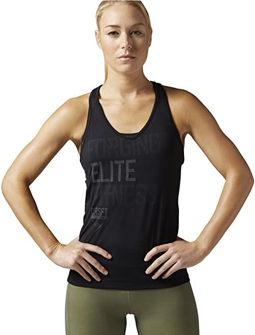 Reebok damska koszulka bez rękawów CF Strength II Tank, czarna, L