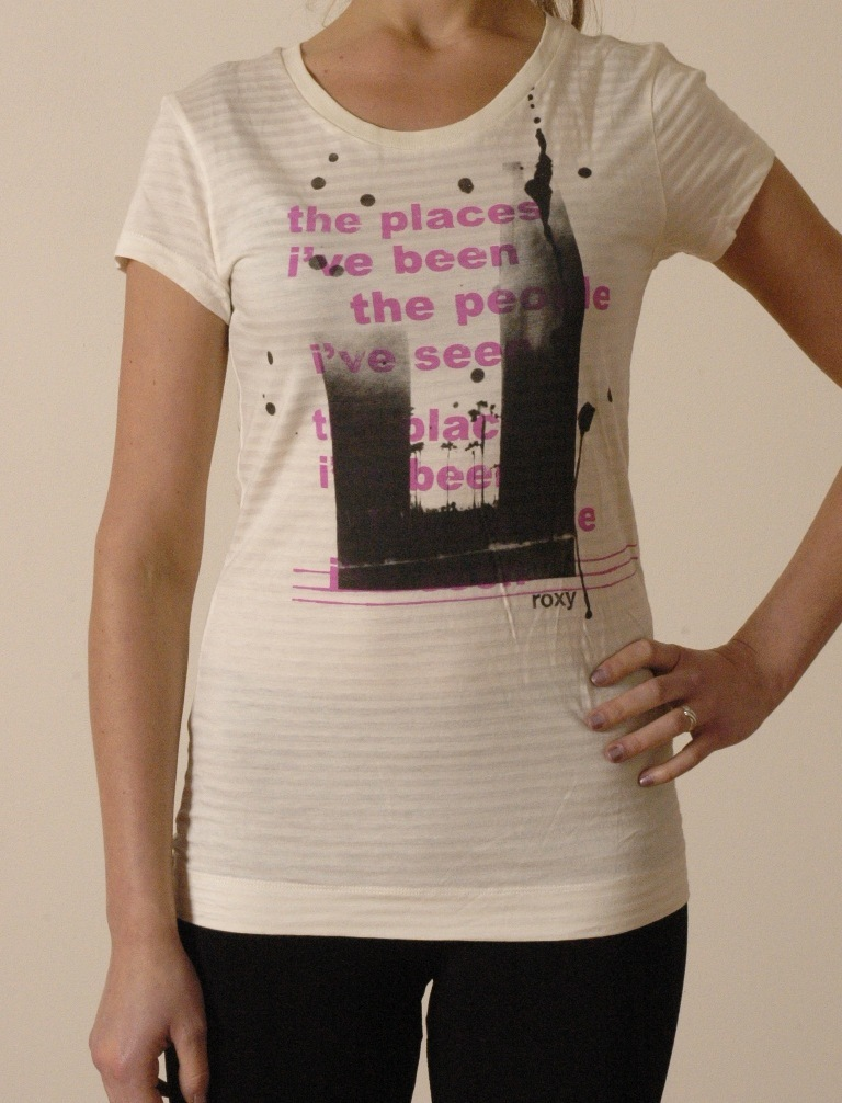 t-shirt damski ROXY Des. Ma city scape milk
