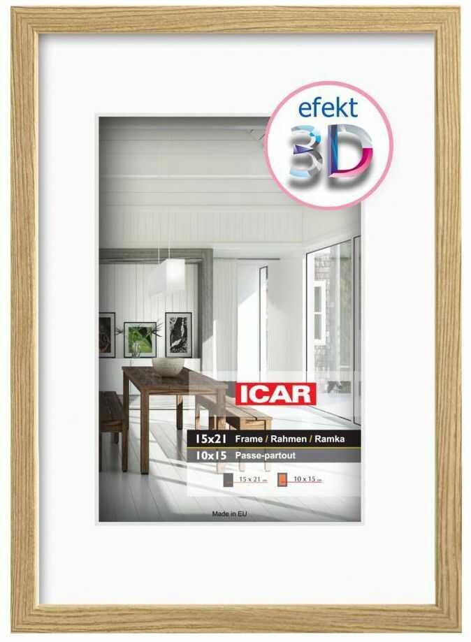 Ramka na zdjęcia Efekt 3D 10 x 15 cm dąb drewniana