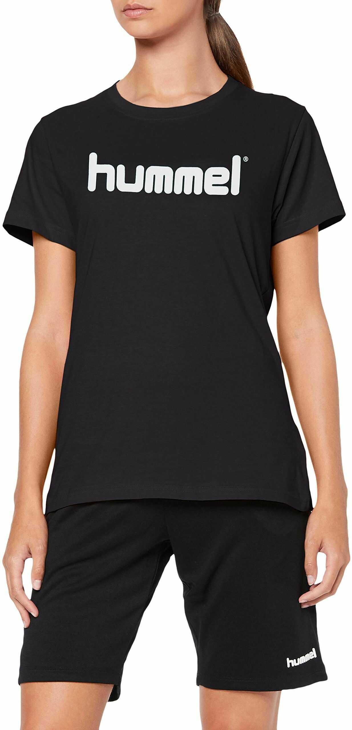 Hummel Hmlgo Cotton T-shirt damski z logo czarny czarny X-S