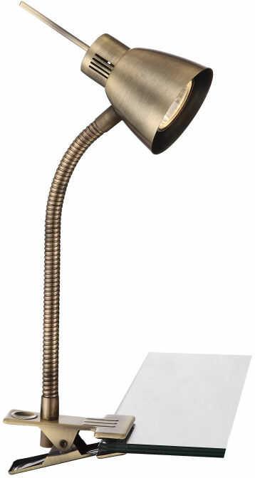 Globo NUOVA 2477L lampa stołowa patyna z wyłącznikiem klips 1xGU10 LED 3W 3000K 24cm