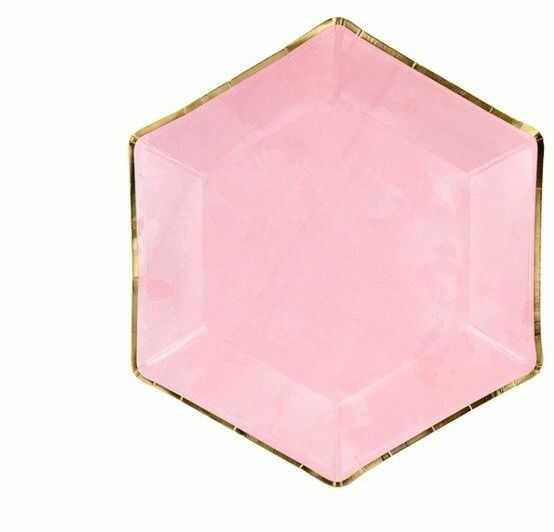 Talerzyki papierowe różowe 23 cm 6 sztuk TPP32