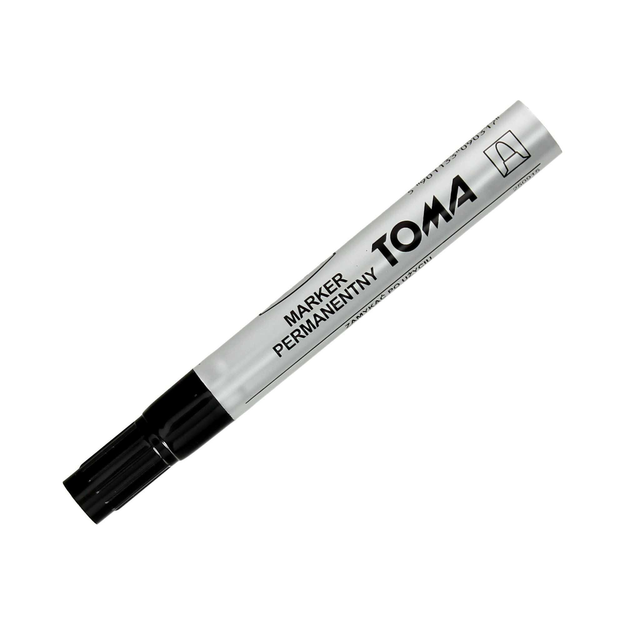 Marker permanentny 1.5mm czarny okrągły Toma TO090