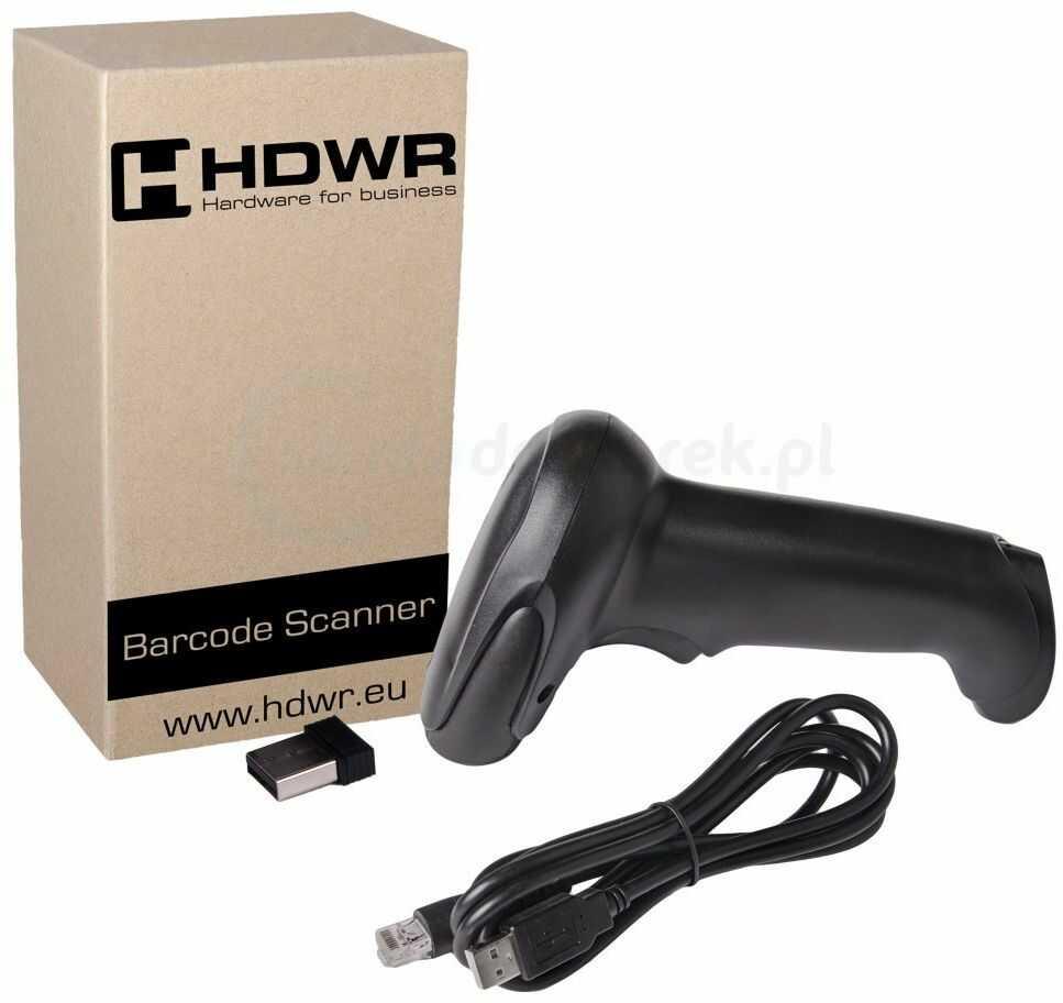 Bezprzewodowy skaner kodów kreskowych 1D HDWR HD-67A MHz