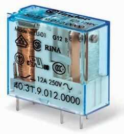 Przekaźnik 1NO 10A 12V DC styki AgNi+Au 40.31.9.012.5300