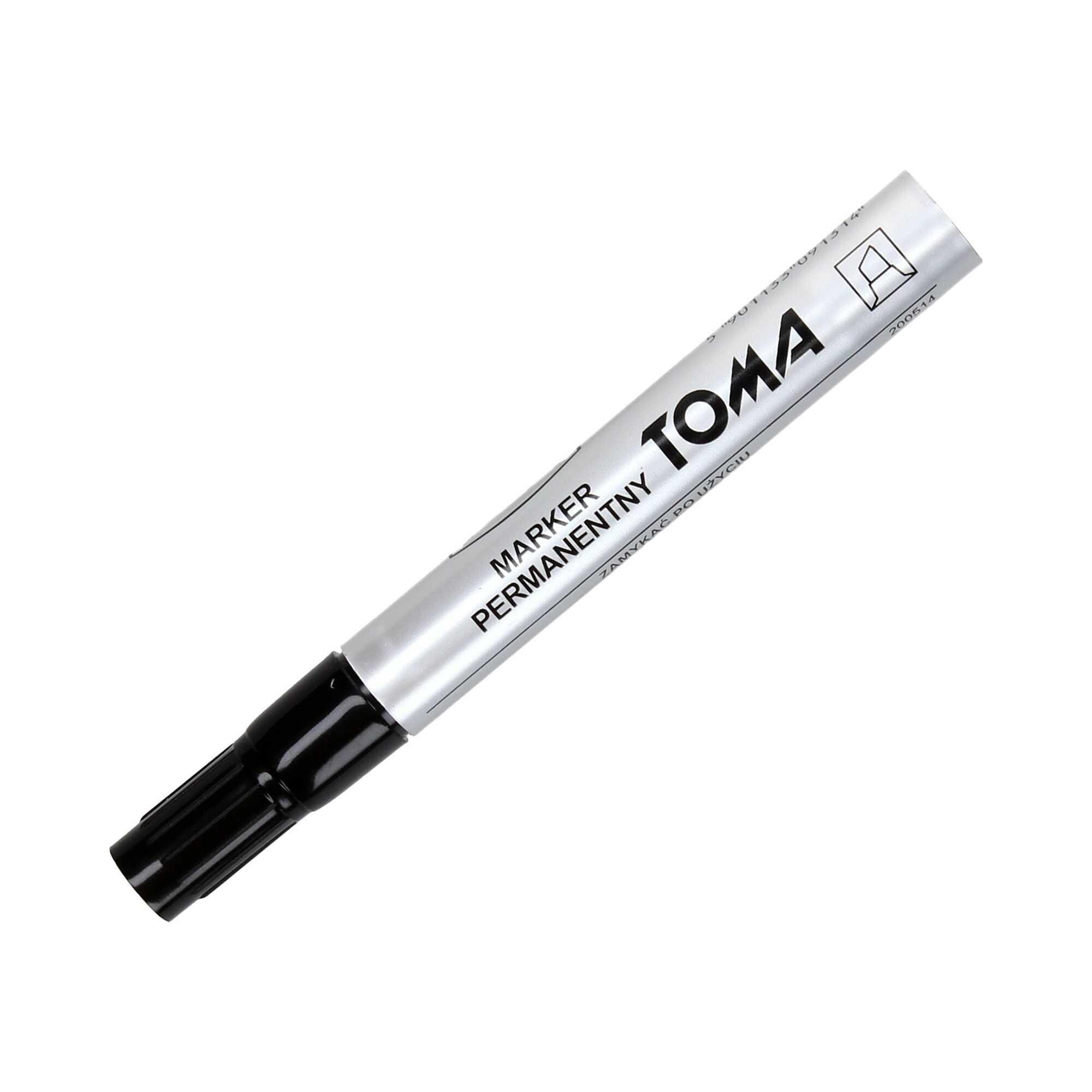 Marker permanentny 1.5mm czarny ścięty Toma TO091