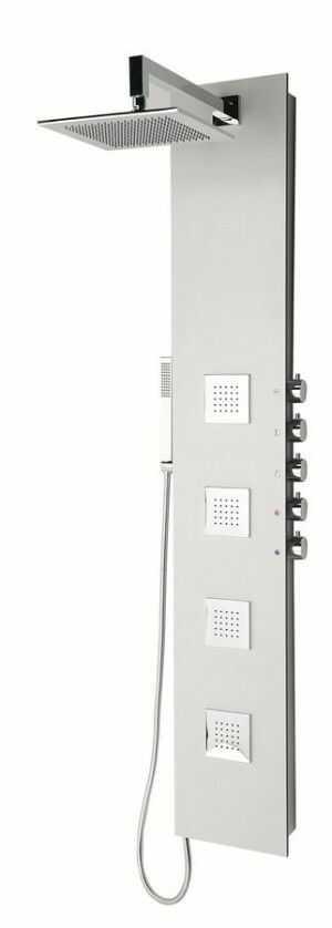 5SIDE SQUARE Panel prysznicowy z baterią 155x25 cm, aluminium 80221